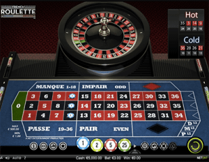 French Roulette online by NetEnt software