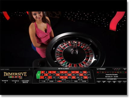 Immersive Live Dealer Roulette