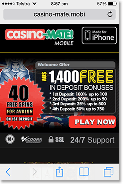 Casino-Mate Mobile Site