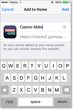 Casino-Mate Mobile App for iOS