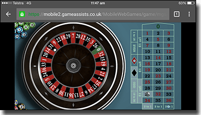 Mobile roulette online