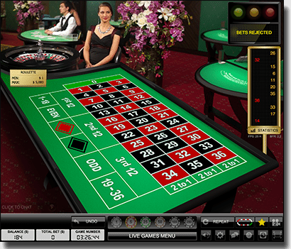 European live dealer roulette by Evoluton Gaming