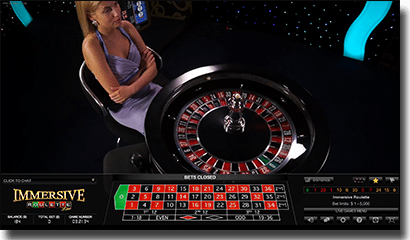 Immersive Roulette live dealer by Evolution