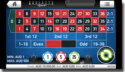 Play Roulette Touch on Android mobile