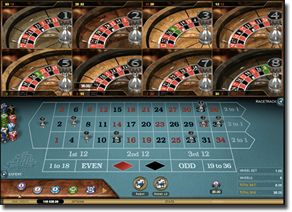 Play Multi-wheel Roulette for real money online