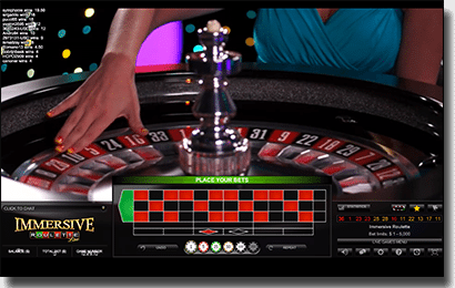 Play immersive roulette by Evolution Gaming