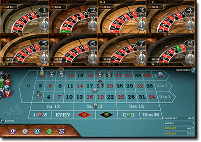 Microgaming multi-wheel roulette online real money