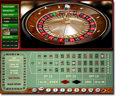 Online roulette - How to place a straight up bet