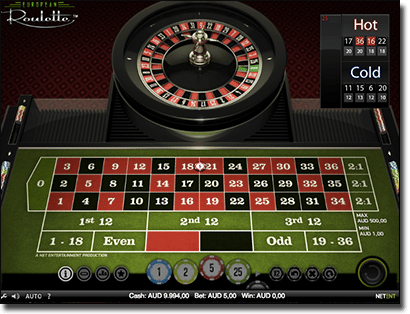 Net Entertainment roulette split bets