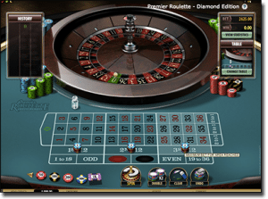 Premier roulette by Microgaming