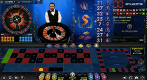Dolphin's Pearl live dealer roulette by Extreme Gaming