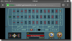 Play roulette on mobile iPhone, Android and iPad