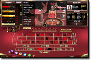 Playboy Bunny live dealer roulette by Microgaming
