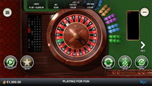Mobile roulette at BGO Casino