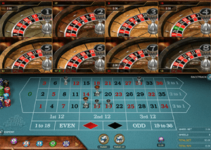 Multi-wheel no download roulette