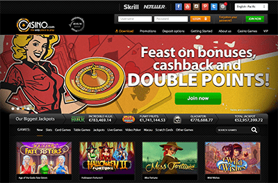 Casino.com desktop instant play casino