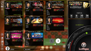 Extreme Gaming live dealer roulette lobby