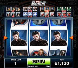 Marvel Roulette bonus feature
