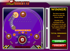 Pinball Roulette gamble feature